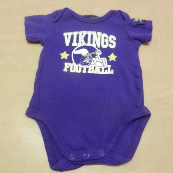Minnesota Vikings Boys One Piece Baby Outfit 3 6 M